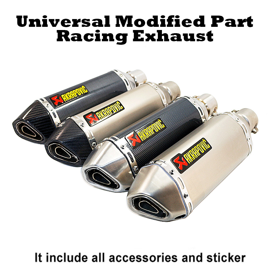 Akrapovic Racing Exhaust Universal 35-51MM Muffler Pipe Moto escape Fit for most motorcycle ATV Dirt bike Scooter 125-1000cc image