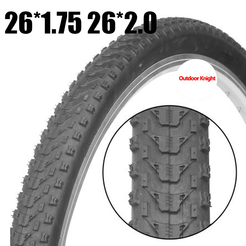 26*1.75/26*2.0 Durable Bicycle Tire Foldable Mountain Bike Bicycle Cycling Tire Wear Resistant Ultralight Tyre
