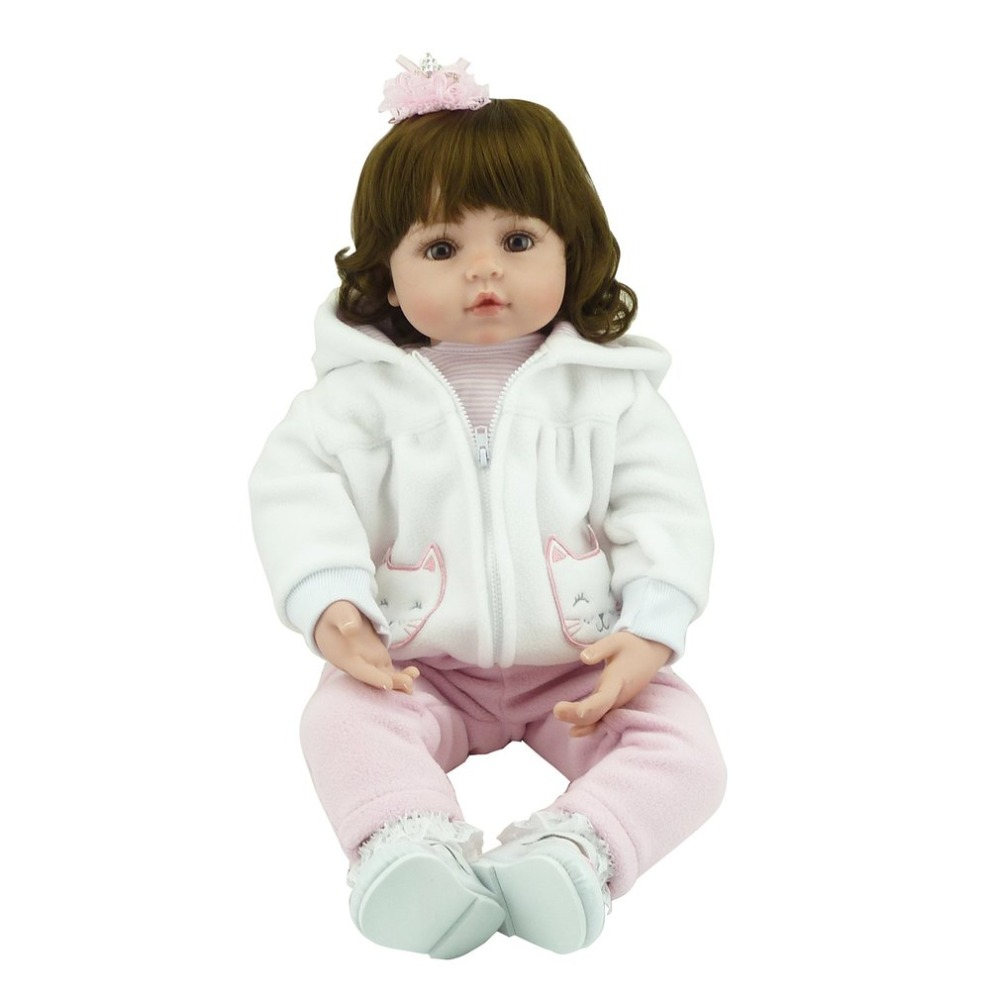 Hot! NPK Doll 58cm Full Body Soft Silicone Baby Reborn Doll Toys Babe Baby Doll Non-toxic Safe Handmade Playmate Gift For Girls