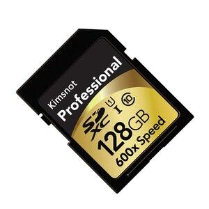 Image 3 - Kimsnot profesjonalna karta SDXC 64GB 128GB 256GB 16GB 32GB karta pamięci SDHC karta pamięci C10 wysoka prędkość 90 Mb/s 600x dla Nikon Canon