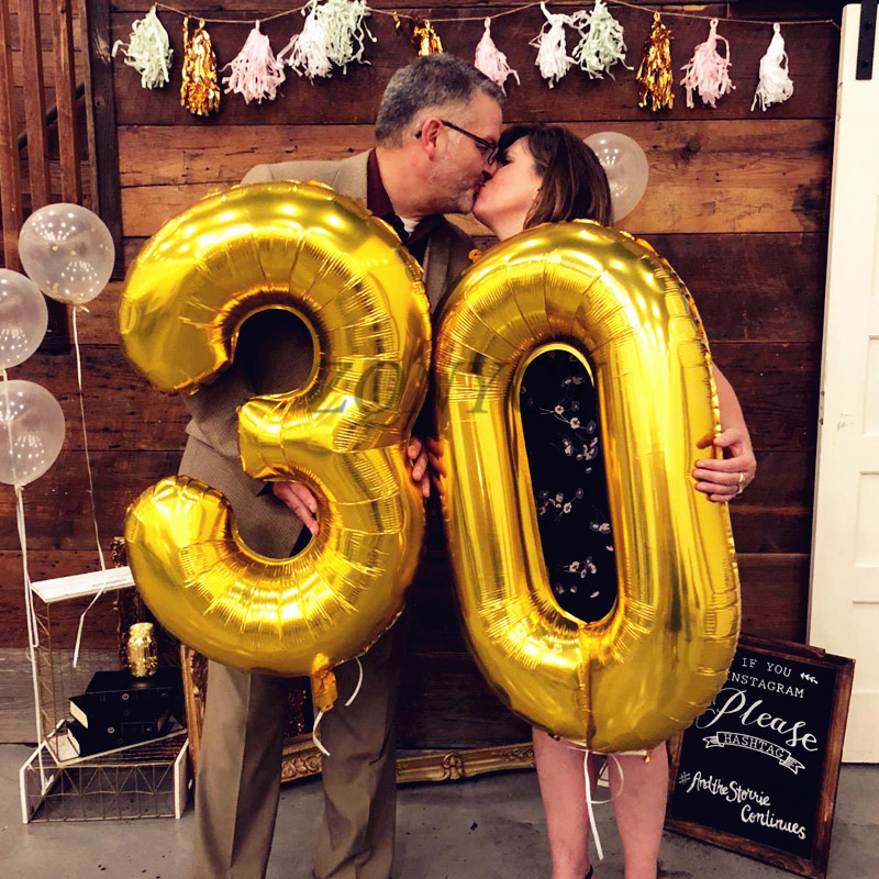30 40inch Big Foil Helium Number Balloons For Party And Birthday Decorations 2