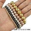 Metallicl lava stone beads 4