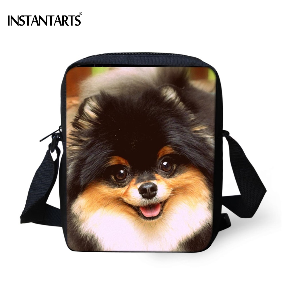 INSTANTARTS Cute Animal Pomeranian Dog Print Women Mini Crossbody Bags High Quality Female Messenger Bag Brand Designer HandbagsINSTANTARTS Cute Animal Pomeranian Dog Print Women Mini Crossbody Bags High Quality Female Messenger Bag Brand Designer Handbags