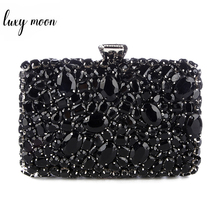 2017 Crystal Evening Bag Beaded Day Clutches Lady Wedding Purse Rhinestones Wedding Handbags Silver Black Evening Clutch Bags xiyuan brand gold silver evening bags ladies women green day clutches clutch bag crystal wedding party clutch purse