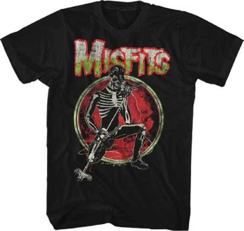 MISFITS - Skeleton - T Shirt Brand New Official Merchandise Harajuku Funny Rick Tee Shirts