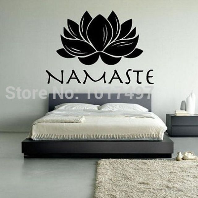 FREE SHIPPING Lotus Namaste Vinyl Wall Decal Stickers , Meditation Yoga Wall  Stickers ,T3017 Part 66