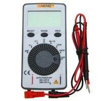 AN101 карман ЖК-дисплей Цифровой мультиметр Подсветка AC/DC Автоматическая Портативный метр 110x55x10 мм для обучения инструмент