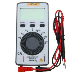 AN101 Pocket LCD Digital Multimeter Backlight AC/DC Automatic Portable Meter 110x55x10mm For Teaching Instrument