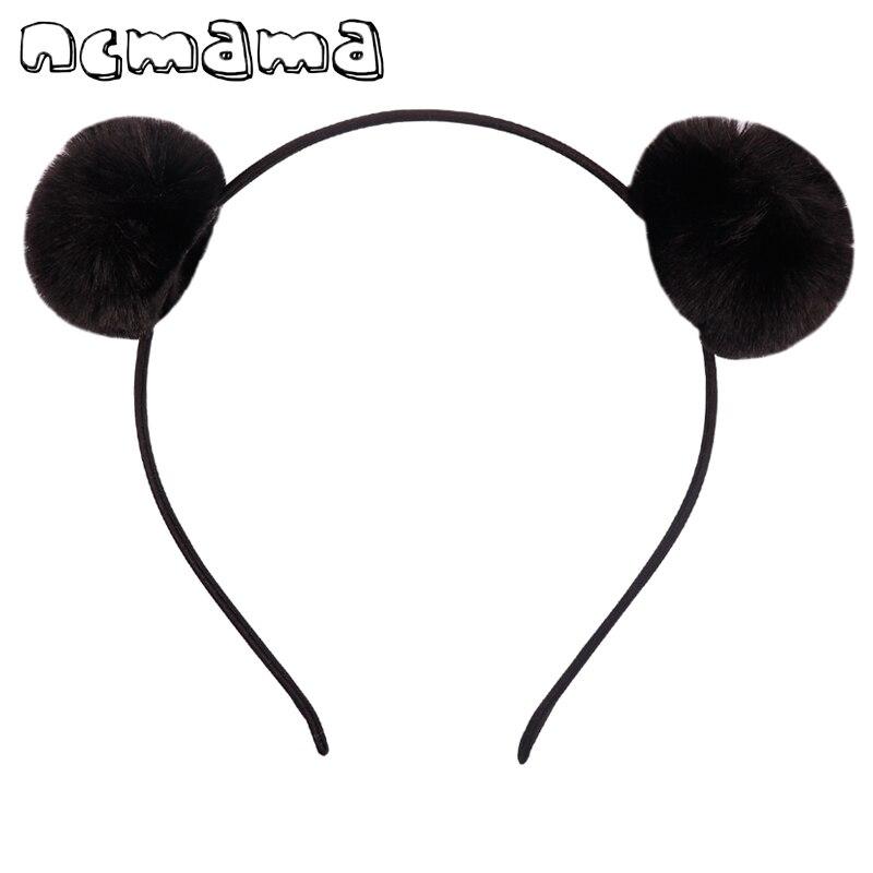 Lovely Pompom Hairband Rabbit Plush Hair Ball Headband Ears Elastic Hair Hoop For Kids Hair Accessories