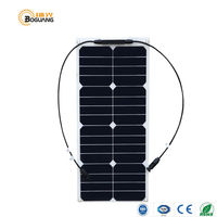 Solarparts 1PCS 25W High Efficiency Solar Panel 12V Solar DIY Solar System RV Marine Mobile House
