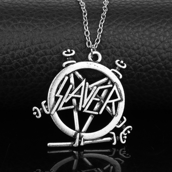 Slayer Pentagram Band Logo Pendant Necklace For Music Fans