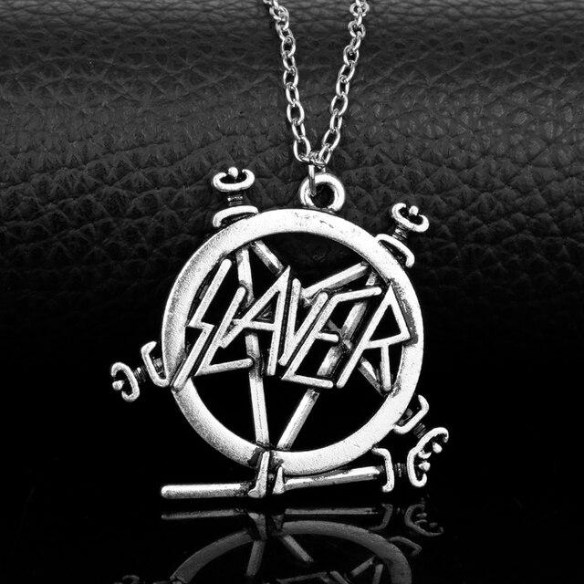 Slayer Pentagram Band Logo Pendant Necklace For Music Fans
