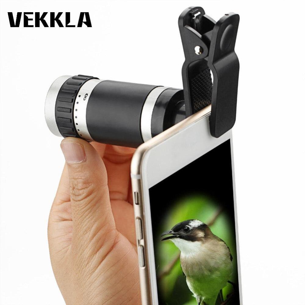 Portable Monocular Telescope Universal 8x18 HD Zoom Pocket Mobile phone binoculars Clips Hunting Optical Prism Tourism Scope