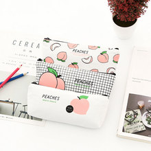 Kawaii Cute fruit Pencil Bag papelaria canvas Case stationery material escolor school supplies Pen Bags