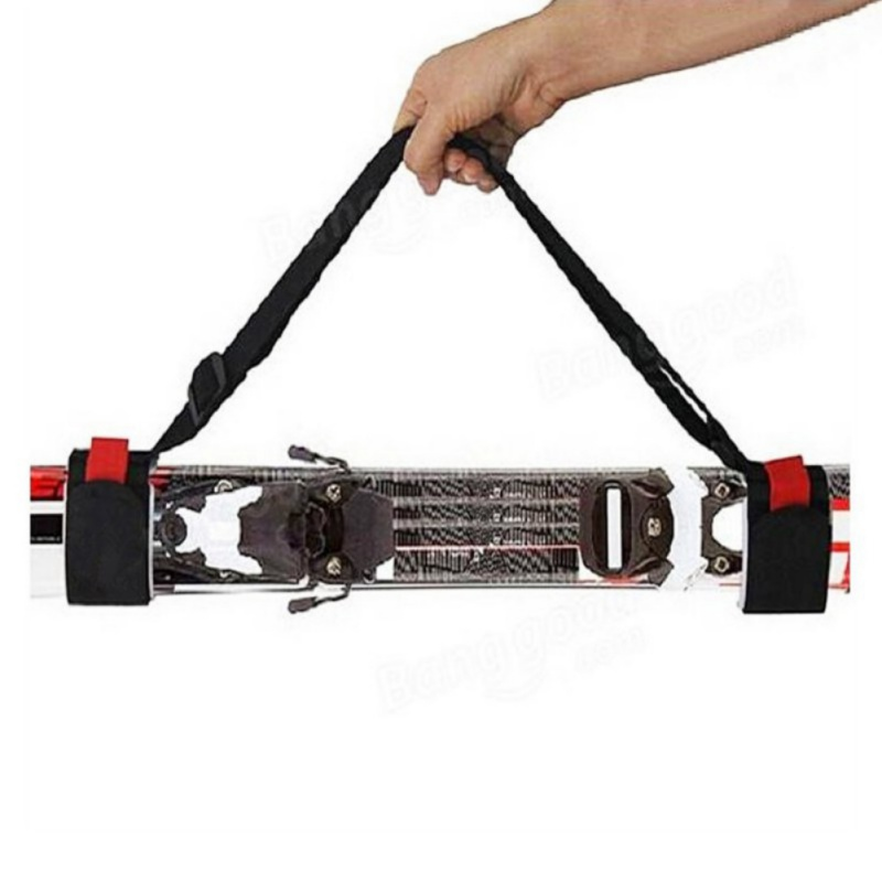 Adjustable Ski Easy Backpack Cross Country Ski Pole Shoulder Hand Carrier Lash Handle Dual Board Strap Bag Outdoor Gadgets