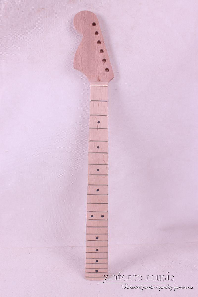 Nouveau 1 pièces guitare cou érable bois acajou 22 fret 25.5