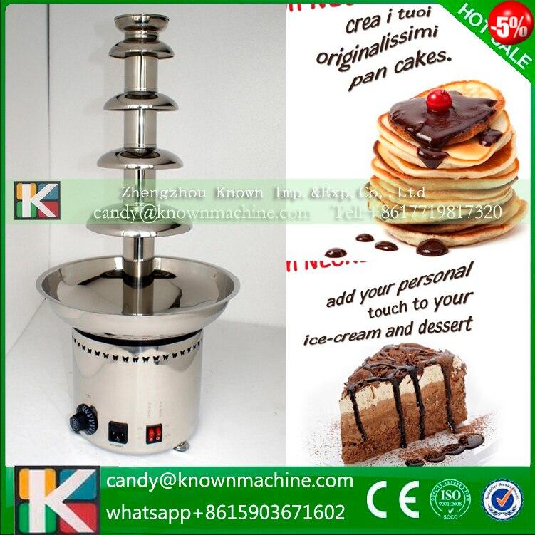 5 tires electric mini chocolate fountain fondue / commercial chocolate fountain maker machine
