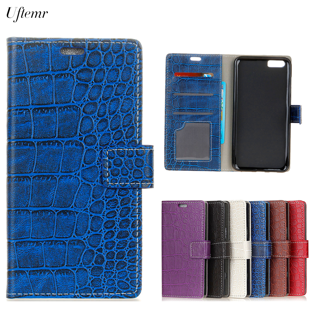 Uftemr Vintage Crocodile PU Leather Cover For ASUS Zenfone 4 ZE554KL Protective Silicone Case Wallet Card Slot Phone Acessories