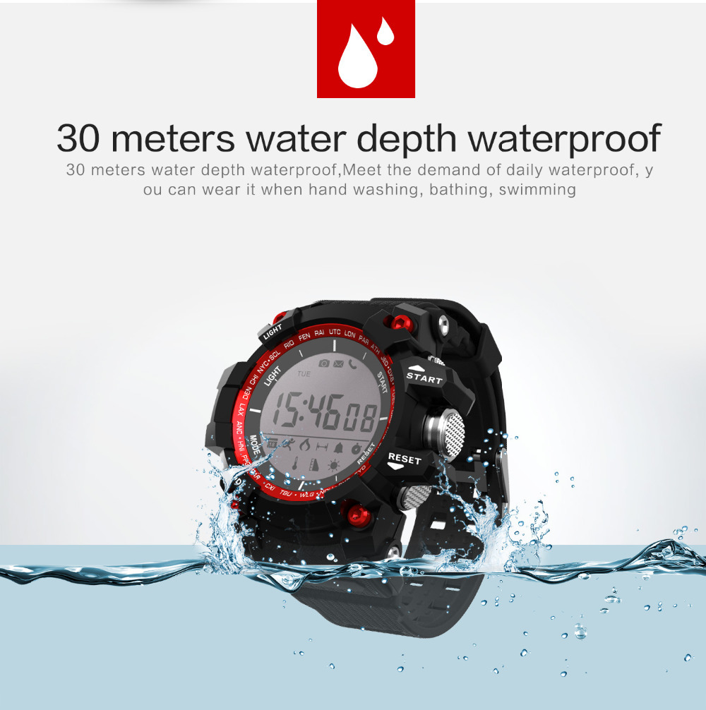 01a 30m Water Swimming CALIRO Monitoring Bluetooth Sports long time used Outdoor Smart Watch Bracelet Support Android Ios in Smart Watches from Consumer Electronics