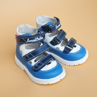 Super Quality Summer 1pair Genuine Leather Orthopedic Shoes Children Leather Sandals Girl Boy Kids Sandals