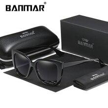 BANMAR BRAND DESIGN Luxury Woman Sunglasses Polarized Classic Cat Eye Female Plastic Temple Eyewear Shades A568