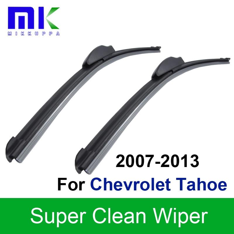 Σιλικόνη Καουτσούκ λεπίδες υαλοκαθαριστήρα Για Chevrolet Tahoe 2007 2008 2009 2010 2011 2012 2013 Παράθυρο Παρμπρίζ Υαλοκαθαριστήρες Αξεσουάρ αυτοκινήτων
