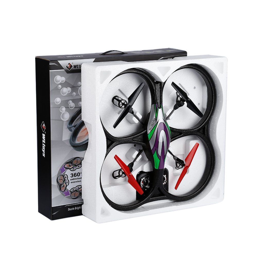 Cyclone UFO 4Channels 6 Axis Gyro Quadcopter 2.4Ghz RTF for WLToys V262 wltoys v676 2 4ghz 4 ch outdoor r c ufo helicopter aircraft w 6 axis gyro lamp white green
