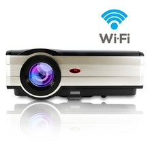 CAIWEI LCD Home Movie Theater Portable TV Projector 1080P 4000 Lumens LED projector for DVD Laptop Moblie Phone
