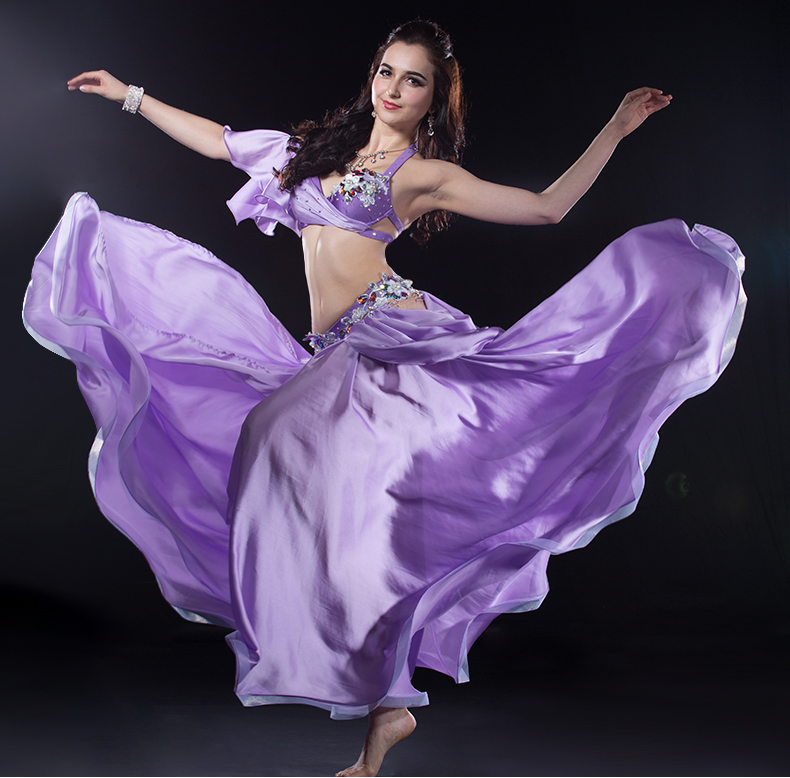 NEW Arrival Belly Dancing Clothing For Women Belly Dance Performance Suit Girls 2pcs(top+skirt)belly Dance Suit Hand Made Set