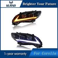 VLAND для Toyota Corolla фары 2011 2012 2013 светодиодный drl проектор фары Ангельские глазки сборки