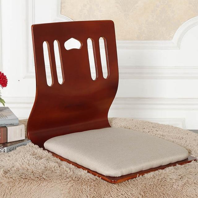 (2pc/lot)Japanese Living Room Zaisu Chair Wholesale Cherry/Black/ Natural Wood Furniture Tatami Floor Legless Zaisu Chair Design