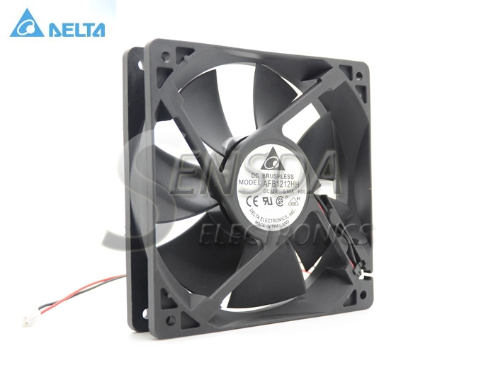 Delta AFB1212HH 12CM 120MM 1225  12025 12cm DC 12V 0.5A DC server inverter power supply Axial Cooling Fans delta 12038 120mm 12cm ffb1212vhe dc 12v 1 5a 24w 4wire violence server industrial case cooling fans