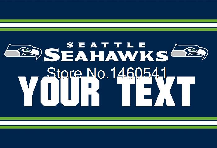 Aliexpress.com : Buy Seattle Seahawks Custom Your Text Flag 3ft x ...
