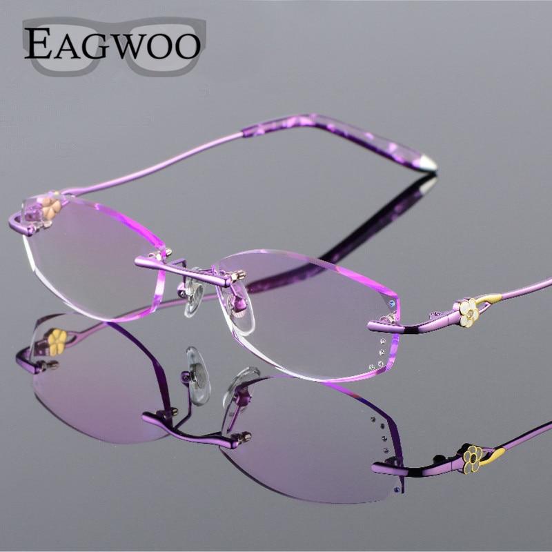 Alliage Lunettes Femmes Sans Monture Prescription Lecture Myopie  Progressive Photochromique Lunettes Spectacle avec des lentilles de Couleur  258067 9b43c2ea3295
