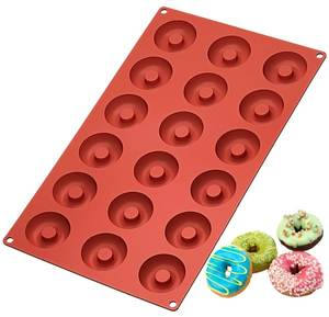 18 Cavity Silicone Mini Donuts cake Mold Chocolate Biscuit Cake Cupcake Doughnut Mould Home Baking Dessert Kitchen tools