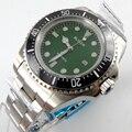 Bliger 44 мм зеленый стерильный циферблат черный керамический ободок автоматические мужские часы