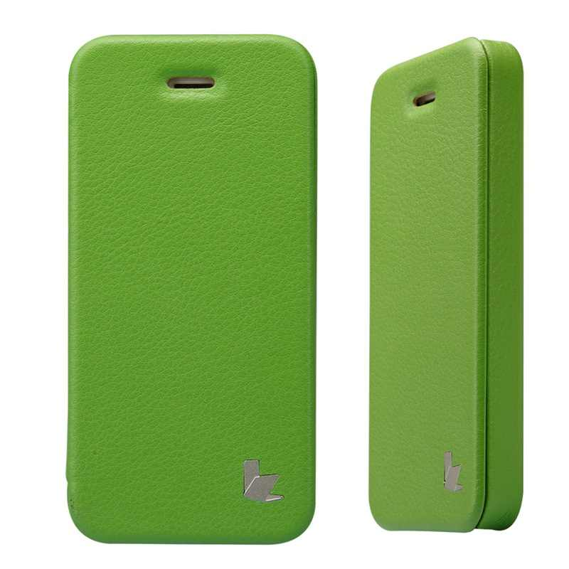 Jison ケースフリップカバーマイクロファイバー電話ケース iphone SE 5 4s 5 ファッションデザインオリジナルカバー保護電話ケース高級ブランド