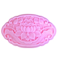 Free Shipping Nicole Silica Gel Mould Lotus Handmade Soap Mould Chocolate Mould Soap Silicone Soap Molds