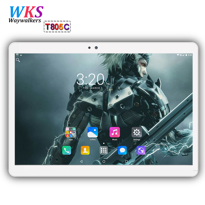 Free shipping 10 inch tablet PC Octa Core Android 7.0 4GB RAM 64GB ROM Dual SIM Card GPS Bluetooth Call phone Gifts MID Tablets russian 10 inch octa core android 5 1 tablets pc 4gb 64gb 1280 800 gps bluetooth fm 2 sim card phone call smart computer pad