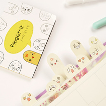 E59 Cute Kawaii Emoji Fingers Expressions Bookmark Memo Pad Sticky Notes Paper Stickers Korean Stationery School Supplies