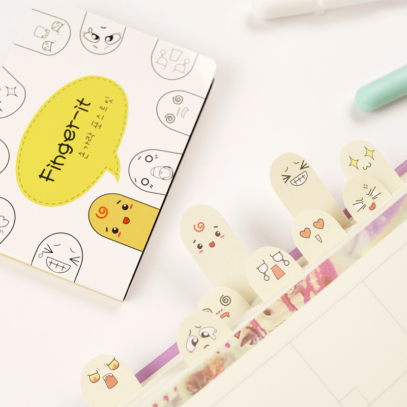 Adhesive 200 pages Paper Fingers Sticker Bookmark Memo Sticky Note Pad H HF