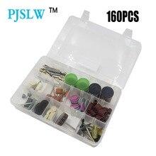 Pjlsw 160 pçs dremel mini broca ferramenta giratória acessórios conjunto de bits para moagem polimento corte ferramentas abrasivas kits