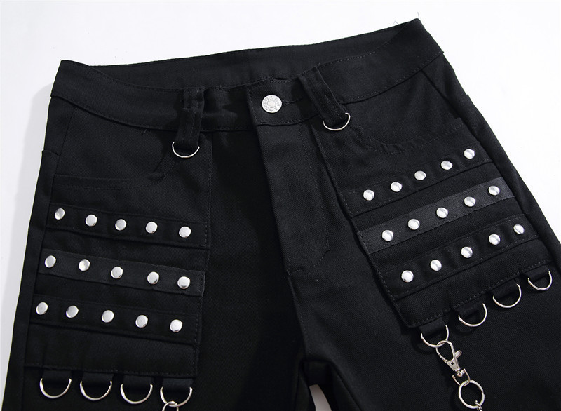 DJ Night Club Black Zipper Men's Jeans 2
