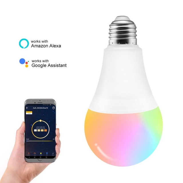 HZFCEW 7.5W G70 RGBW WiFi Control Smart Bulb Connect Alexa and Google Home APP/Voice/Music/Group/Long-Range Control FR042