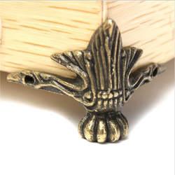 4 шт./компл. античная латунь ювелирные изделия грудь деревянная шкатулка декоративная ноги ногу углу протектор Винтаж украшения