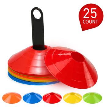 15 sztuk 25 sztuk zestaw stożek Disc Multi Sport szkolenia przestrzeń stożki z plastikowy stojak uchwyt do piłki nożnej piłka nożna gra z piłkami Disc tanie i dobre opinie CN (pochodzenie) Other