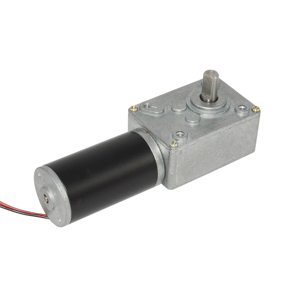 Electric Speed Reducer Motor DC 24V 55rpm PMDC Worm Geared Motor with Self-lock Out of Shaft 8mm цена