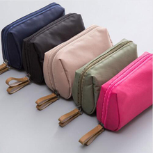Cosmetic bag nylon waterproof ladies cosmetic portable travel storage mini clutch
