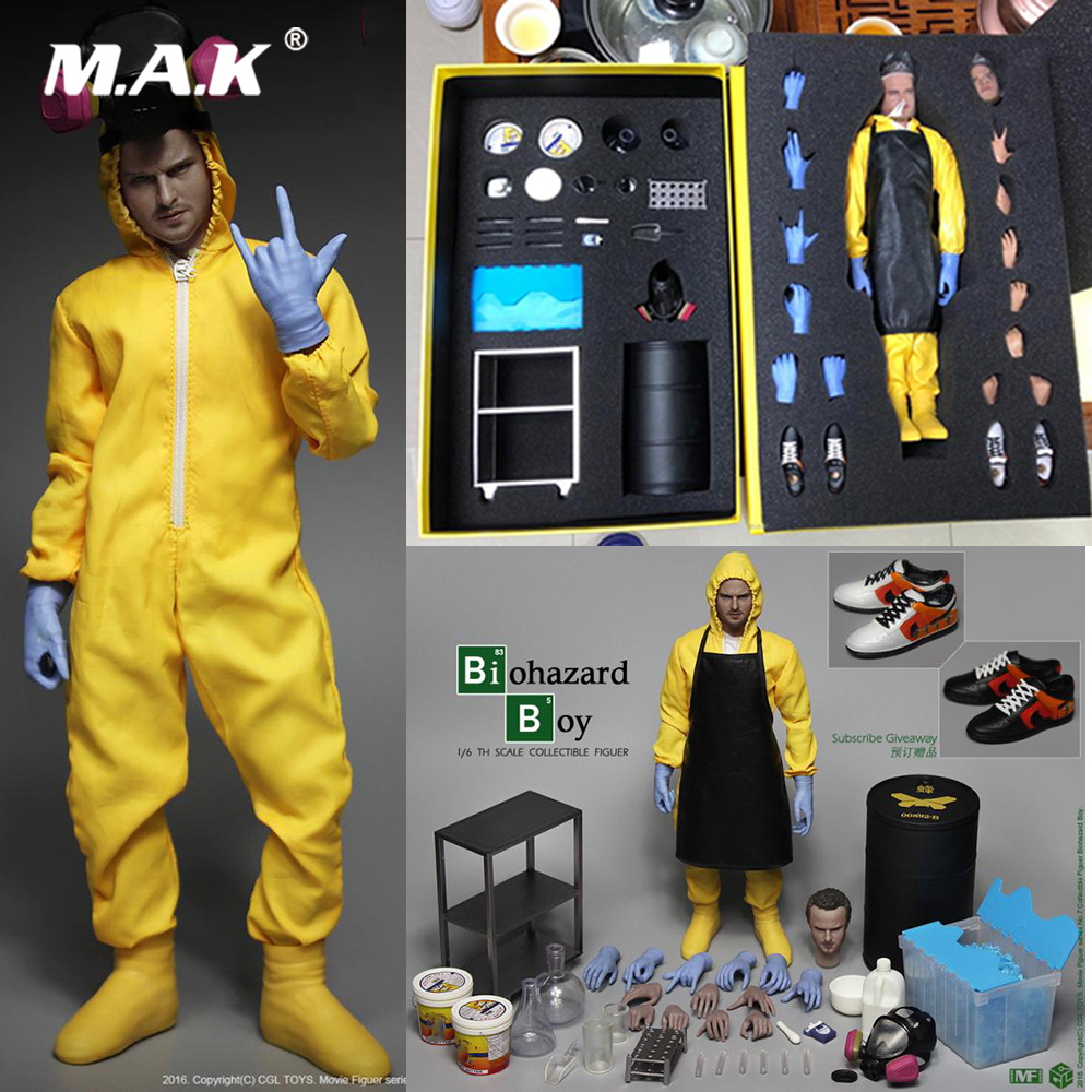 Para la colección 1/6 juego completo Breaking Bad Small powder Jersey Pinkman figura química Laboratorio de Visión de lujo modelo ventiladores regalo-in Figuras de juguete y acción from Juguetes y pasatiempos    1