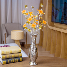 Top quality Creative Artificial Acrylic Crystal Flower simple fashion flowers vase for home decor craft room wedding decoration